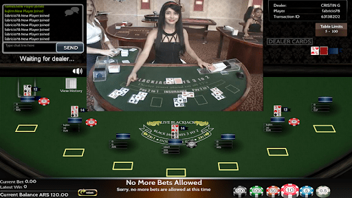 jogos ao vivo blackjack